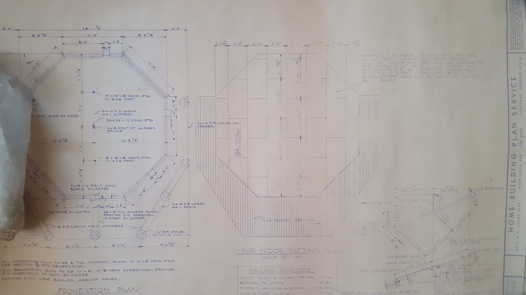 A page from 1968 plans detailing insulated floor panels.